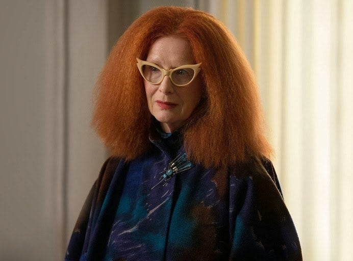 """Myrtle is one of the most fashion forward characters that AHS has to offer. She's truly devoted to the Coven, but her vendetta against Fiona gets a little old.Best line: """"Balenciaga!"""""""