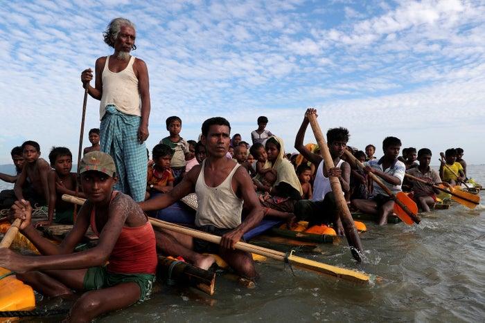 Rohingya refugees fleeing violence in Myanmar last year.