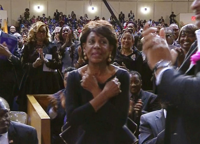 Waters responded with a Wakanda Forever salute, a reference to the film Black Panther.
