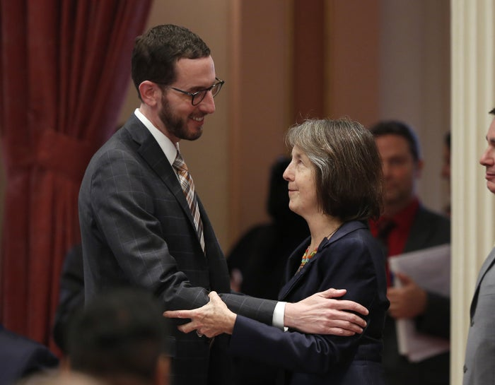 State Sen. Scott Wiener and Sen. Nancy Skinner, a coauthor of the bill.