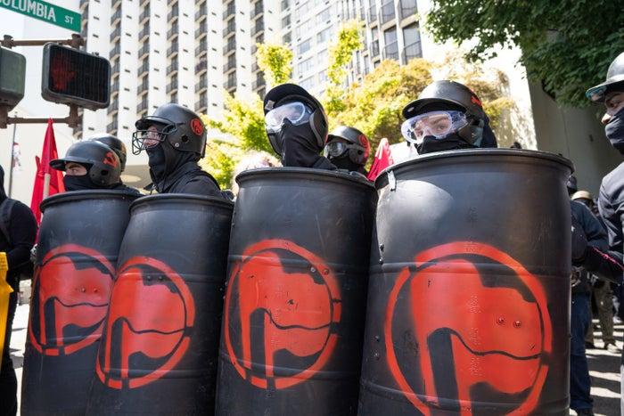 """Members of the self-described """"antifa."""""""
