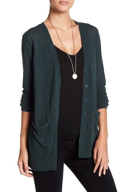 """Promising review: """"This sweater is comfortable and just the right weight for air-conditioning. Most days I should be able to wear it to and from the car in a humid climate. It's great length if you're average height. Not bulky with a light blouse underneath. A nice solution for looking professional in public but not stuffy."""" —GIRLREVIEW22686Get it from Nordstrom Rack for $24.97 (available in sizes XS- 2XL and in five colors)."""