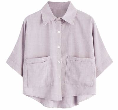 50cb76bc031 A cropped button-up to take you from weekends around town to business  casual in a flash.