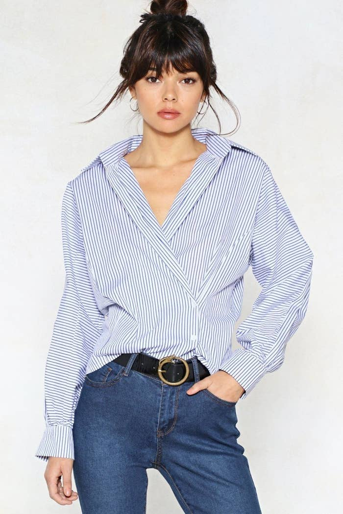 d7a08ffa8de8e6 A 100% cotton collared striped shirt you can 100% wear to your next job  interview
