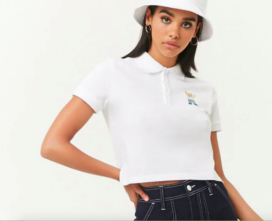 1baaea04c525 42. A cropped embroidered polo that's just screaming,