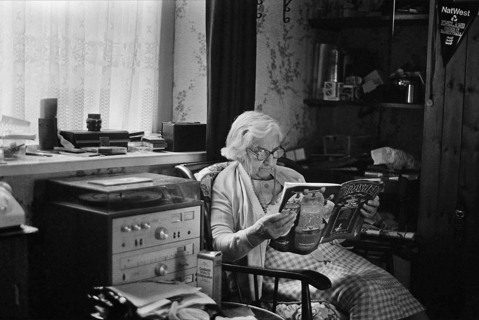 "Skin Phillips; ""Grandma Thrasher, 1984. Swansea."""