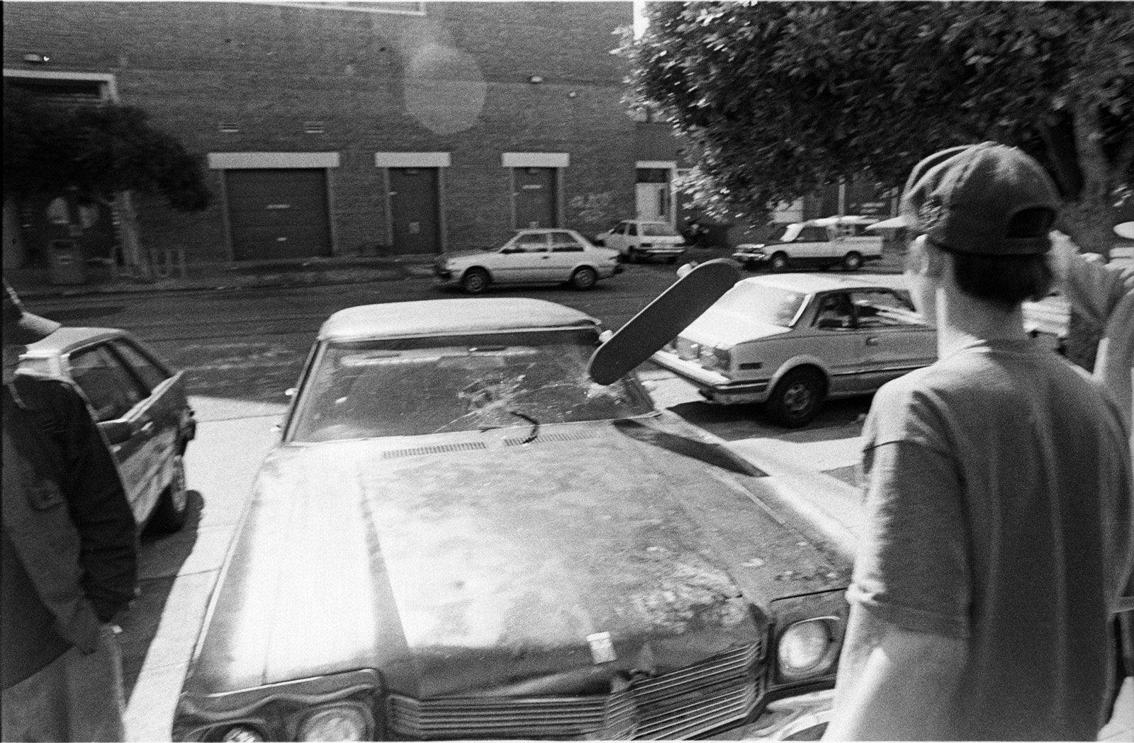 "Tobin Yelland; ""Corey Chrysler focuses his car""; 1992."