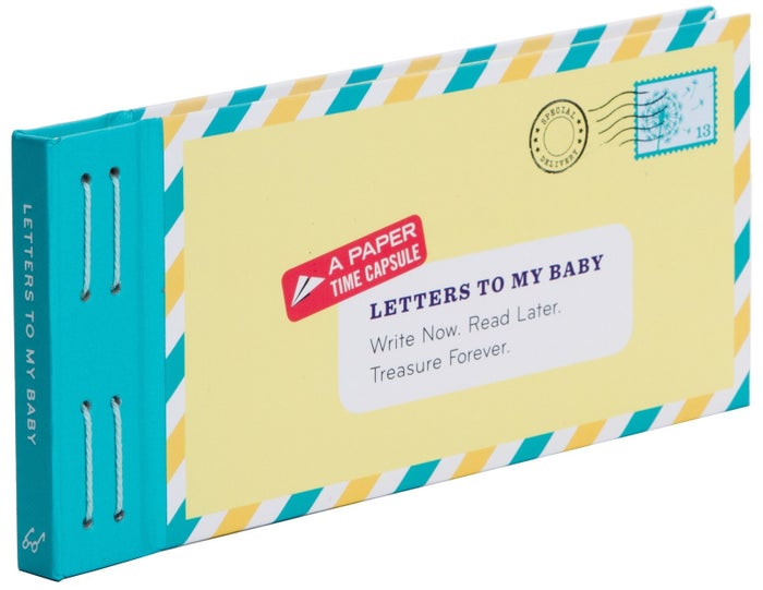 """The book includes 12 fold-and-mail letters. Promising review: """"So cute! I write these letters when I feel compelled, and I hope my baby will appreciate them when she's older. The stationery is cute, and the stickers are adorable. I highly recommend it!"""" —gemmaleePrice: $10.08"""