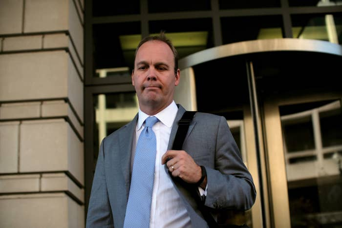 Rick Gates at the federal courthouse in Washington, DC, in November 2017.
