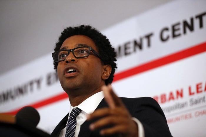 Ferguson City Council member Wesley Bell in 2017.