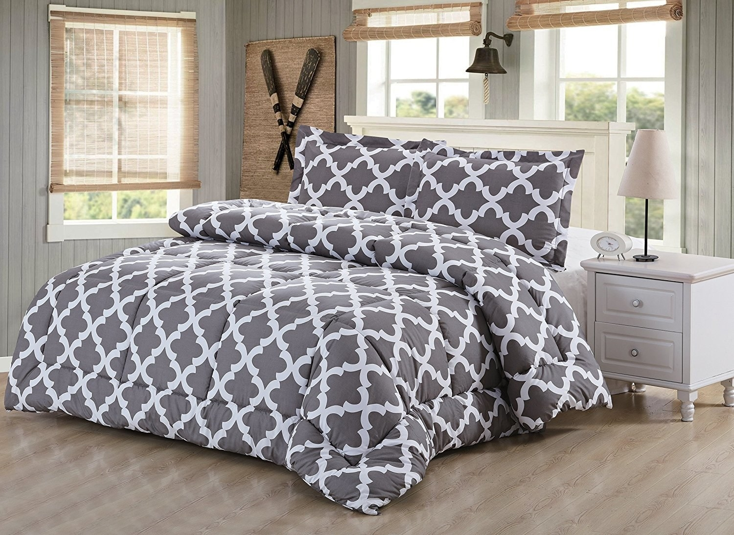 A Down Alternative Patterned Comforter Set, Because When You Pick A Classic  Design, It Means Staying In Bed Never Gets *old*.