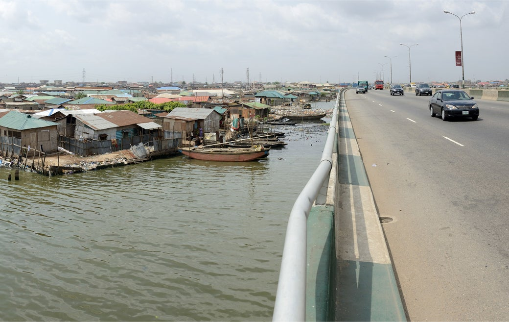 Makoko is located in a lagoon in Lagos. It was established in the 18th century as a fishing settlement but was later swallowed by the metropolis, becoming just a tiny part of it.