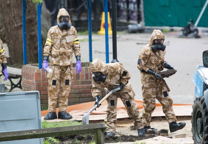 The poisoning of Sergei Skripal and his daughter, Yulia, sent members of the military to the Maltings shopping area in Salisbury searching for the source of the nerve agent they'd come in contact with.