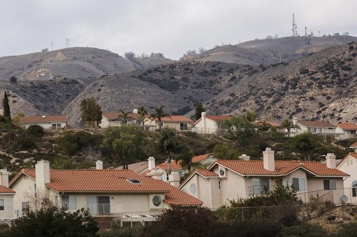 Homes near the Aliso Canyon facility.