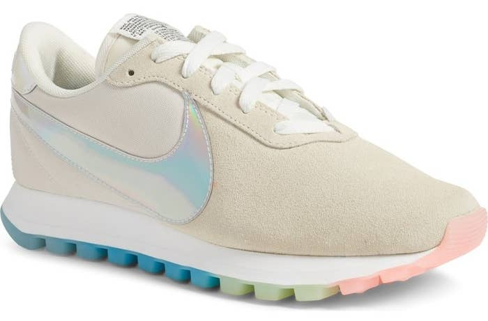 ... Nike sneaks with pastel rainbow treaded soles and an iridescent swoop  so you can ~exercise  Swarovski Nike Air ... 8583ac47a7