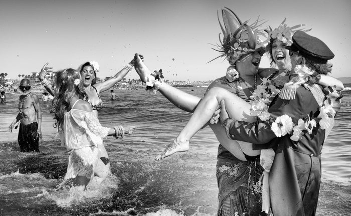 Today's incarnation of the Neptune Parade is inspired by the Venice Mardi Gras, celebrated for the first time in August 1935 with three days of parades and festivities.