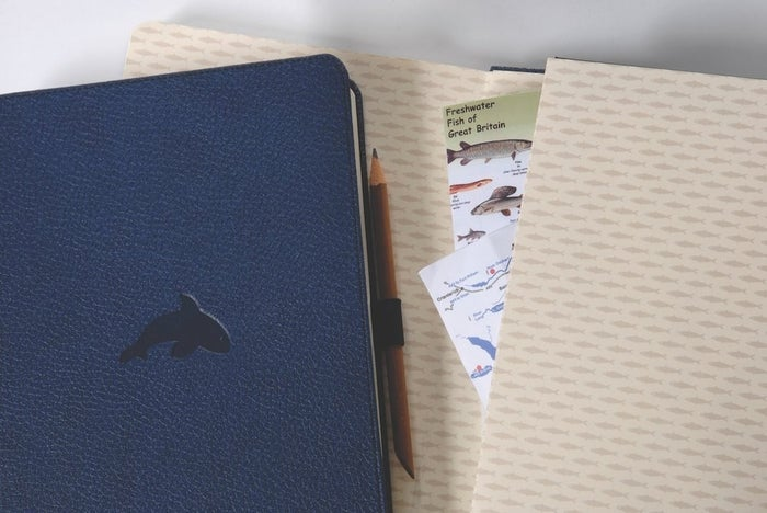 """Promising review: """"The faux leather cover is quite striking, and it feels good in-hand and indistinguishable from real leather. The paper is obviously of a high quality; it's creamy and has absolutely no bleed-through, even with fountain pens. The micro-perforated pages make removing a page for notes or a letter very convenient, which is a feature many hardback notebooks lack. Then, the finishing details: the closure, bookmark, and pen loop all function well and seem resilient (after being in my bag for a week). I am highly satisfied with this product, and will purchase more Dingbats products in the future."""" —Deja JohnstonPrice: $19.95 (available with dot grid, lined, plain, and squared pages; also available in nine other colors and animal covers)"""