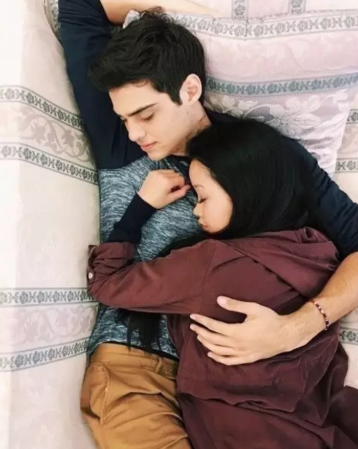 He naps with Lana Condor like this! He improvised the popcorn and pocket spin scenes! He swaps books with girls on dates! He's going to kill me!