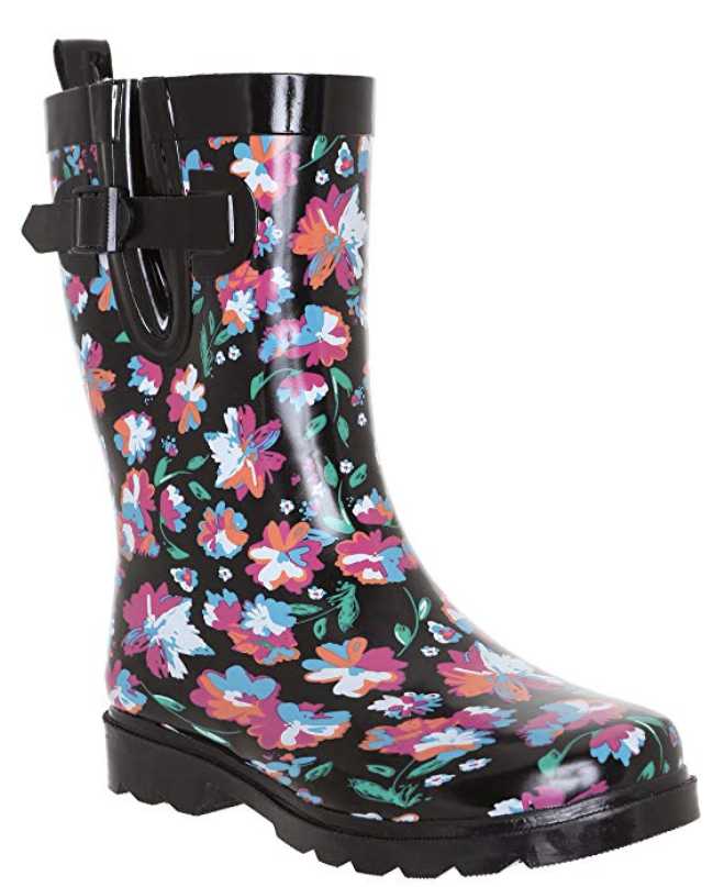 """Promising review: """"These boots were the perfect shoes for England. Not only can you still walk around while it is raining (because it will rain), they are super cute. I got compliments on how great my shoes looked. They are also surprisingly comfortable. I forgot to bring hiking boots and walked around the lake district for a week in my rain boots instead. I didn't get a single blister. Great purchase."""" —Stacey GorePrice: $24.95+ (available in women's sizes 6–10 and 10+ colors)"""