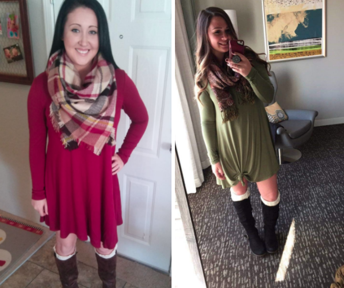"""""""I'm in love —under $20 for a comfortable and cute dress. I'm 5'8 and weigh 170 pound. I usually wear an XL, but ordered a L and it fits great."""" —Andrea"""