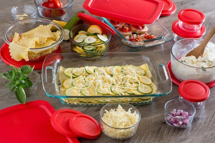 Set includes: three 2-cup round containers, one 4-cup round container,three 1-cup round containers, two 3-cup round containers, 1.5-qt mixing bowl, 2-qt oblong dish, 3-qt oblong dish, 12 matching lidsGet it from Walmart for $38.99 (originally $52).