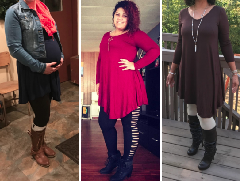 """""""I am 34 weeks pregnant and I love how comfortable this is. If you buy this during the winter just know that it's thin, but you can add lots of cute warmer layers. This will also be a cute dress for summer after I have the baby :-)"""" —themightytank"""
