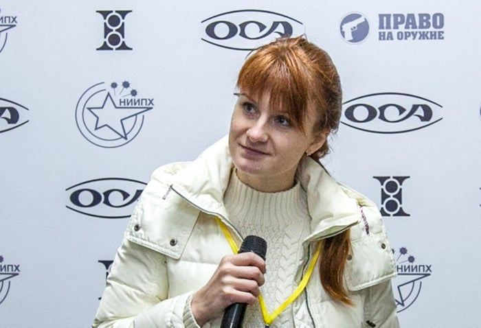 Maria Butina during a press conference in Moscow in October 2013 .