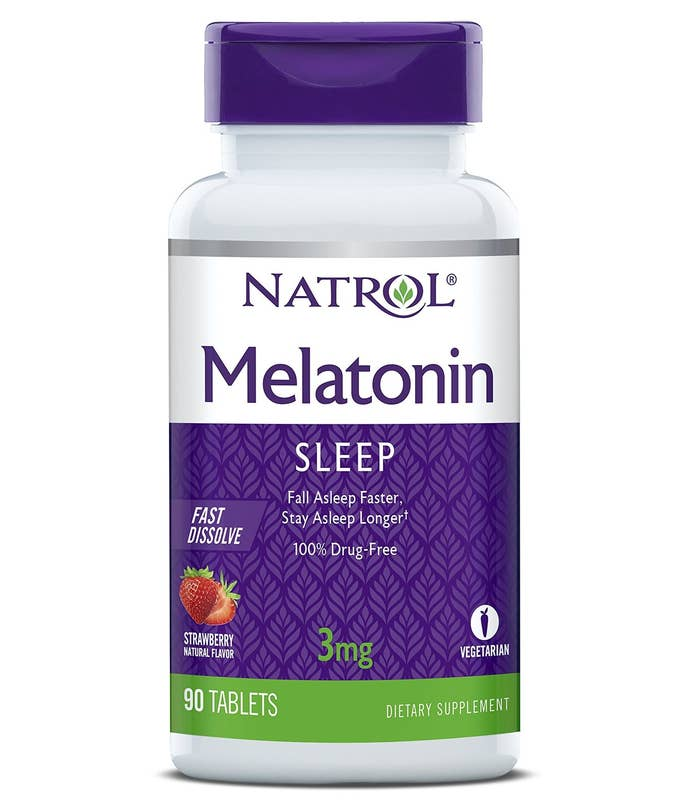 Our bodies produce melatonin to help us fall asleep at night, but our natural production can be disrupted by things like stress, diet, and exercise. Natrol Melatonin works to increase your levels again, helping to reestablish sleep patterns. It's 100% drug-free and non-habit forming.Get a bottle of 60 tablets from Amazon for $5.90+ (also sold as a pack of two).