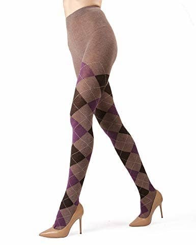 d47ec388f4a Argyle sweater tights to help you get your pattern fix in a professional  setting.