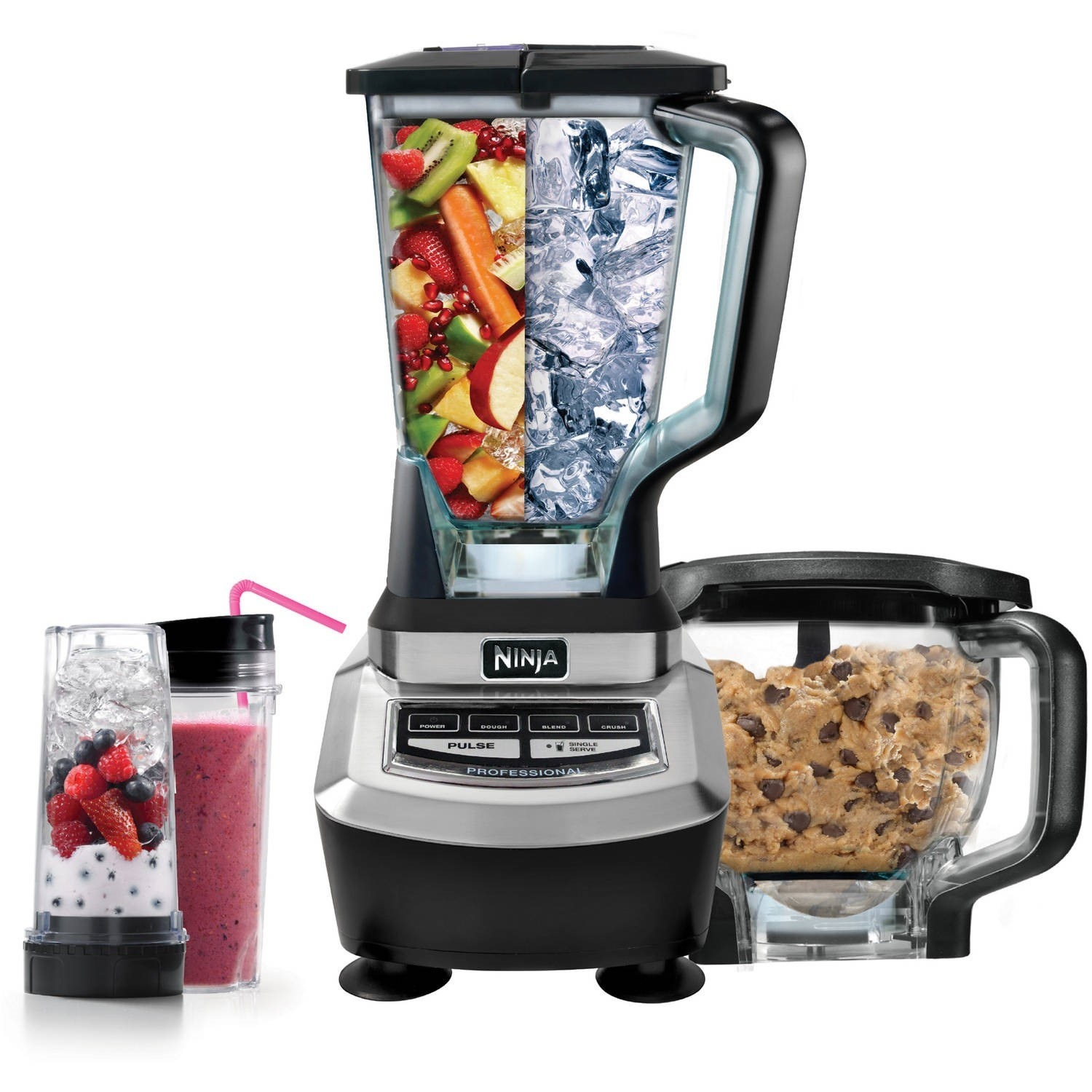 """""""My Ninja kitchen system. It's a blender, food processor, smoothie maker all in one. And it came with two tumbler lids for the smoothie cups. I got it on sale for $100. The amount of cabinet space I got back and the amount of time I save cooking is well worth that $100.""""—annettet48daf4f19Unfortunately the full set with the food processor's not discounted right now, although you can still get it from Amazon or Walmart for $149. If you want to stick closer to $100, you can get the blender plus two smoothie cups and smoothie lids on Amazon for $99.98."""