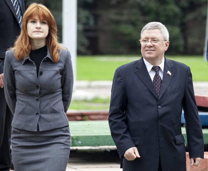 Maria Butina and Alexander Torshin in 2012.