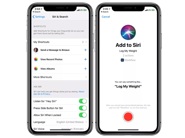 "Basically the shortcuts feature will make Siri even more useful. You can run them with either a tap or voice command, Apple says, and many of them will be suggested for you so there's not much to do on your part.For example, Apple says that, ""Siri Suggestions leverages signals like your location, time of day, and type of motion such as walking, running, or driving, to learn when to suggest shortcuts to you."""