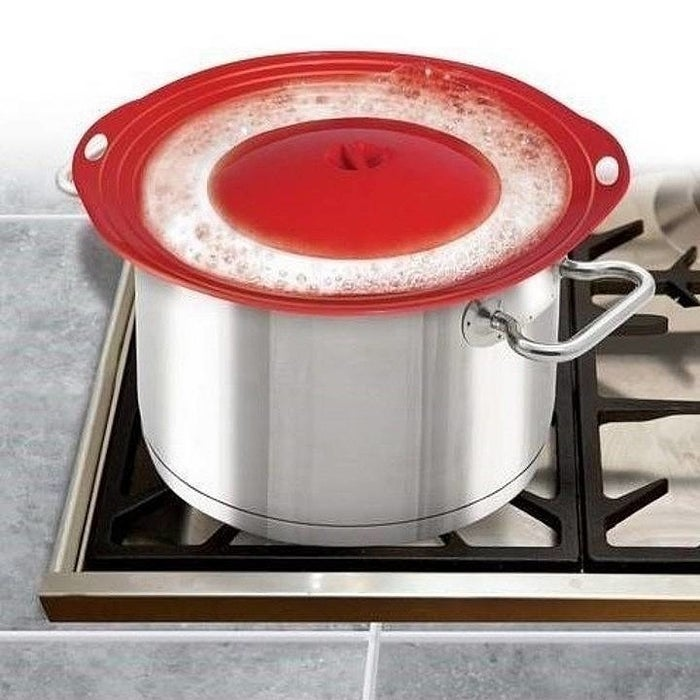 """It's heat-resistant up to 500 degrees, and it's microwave- and top-rack dishwasher-safe. It measures 10"""" in diameter.Get it from Walmart for $9.83."""