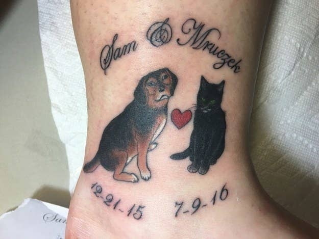 548af7c2c 52 Beautiful And Heartwarming Tattoos Dedicated To Pets