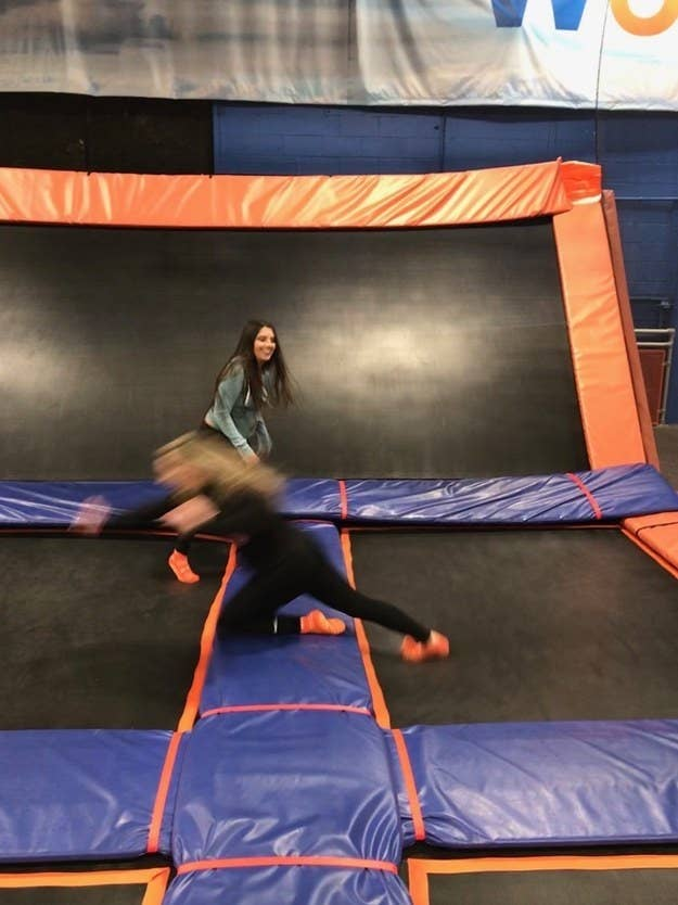 A Live Photo showing a girl falling