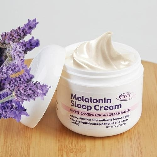 melatonin cream in jar