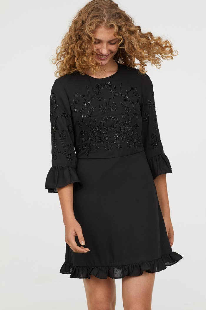 076f192972d A delicate beaded dress others might mistake for a designer piece.