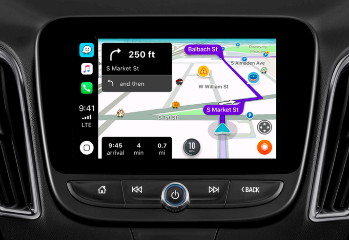 "Apple says specifically that:""CarPlay now supports third-party navigation apps. App developers around the world can update their mapping apps to show up within CarPlay, and make use of new custom templates made specifically for navigation apps. Apps are fully integrated into CarPlay with notifications, controls, and layout all handled automatically, regardless of car type or screen size."""