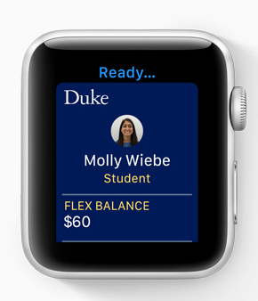 Apple says that students can add their student ID cards to Wallet on iPhone and Apple Watch, and use it by simply holding their device near the reader anywhere student ID cards are used on and off campus.