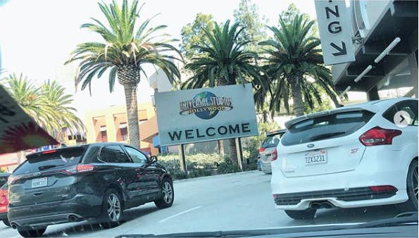 General parking is in a separate structure, and it's about a 10-15 min walk through Universal City Walk to get to the park, so you'll want a headstart.