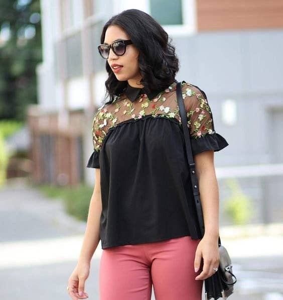 71b5ddcabda1d An embroidered collared shirt with cute statement sleeves