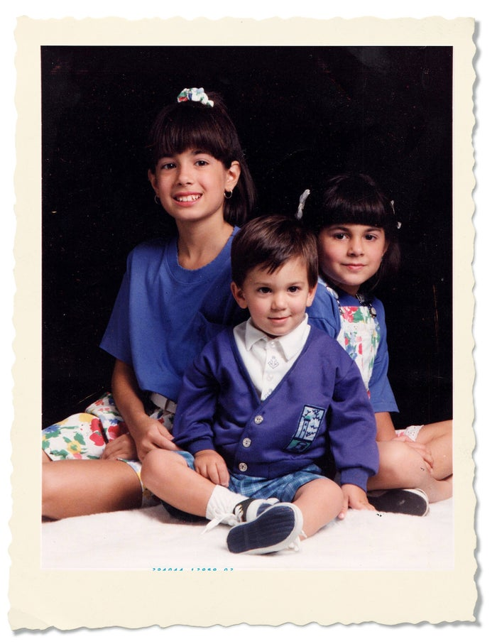My sister Danea, my brother Jordan, and me in 1993.