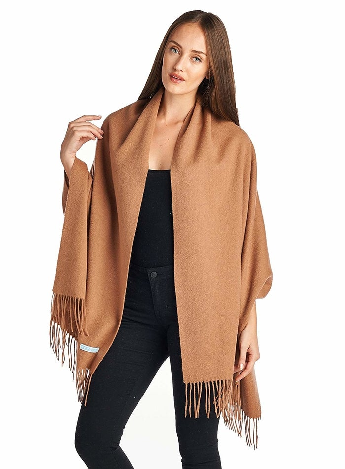 It's made of 100% wool.Get it from Amazon for $44.99 (available in 13 colors).