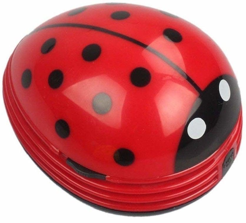 The desk vacuum looks like a ladybug