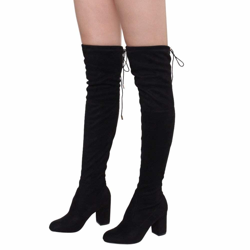 Girls' Shoes Honest Girls Knee High Black Boots Size 5.5 Yet Not Vulgar Kids' Clothing, Shoes & Accs
