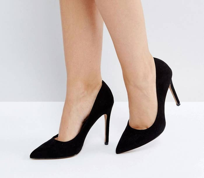 942bcd864e9e A pair of chic faux-suede heels to keep stashed under your desk for  unexpected meetings — they re an easy way to make your outfit look a bit  more ~formal~.
