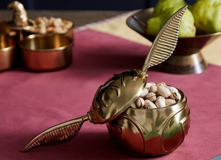 Just head on over to the Hogwarts kitchens and tickle the pear when you need a replenishment.Get it from Pottery Barn for $39.50.