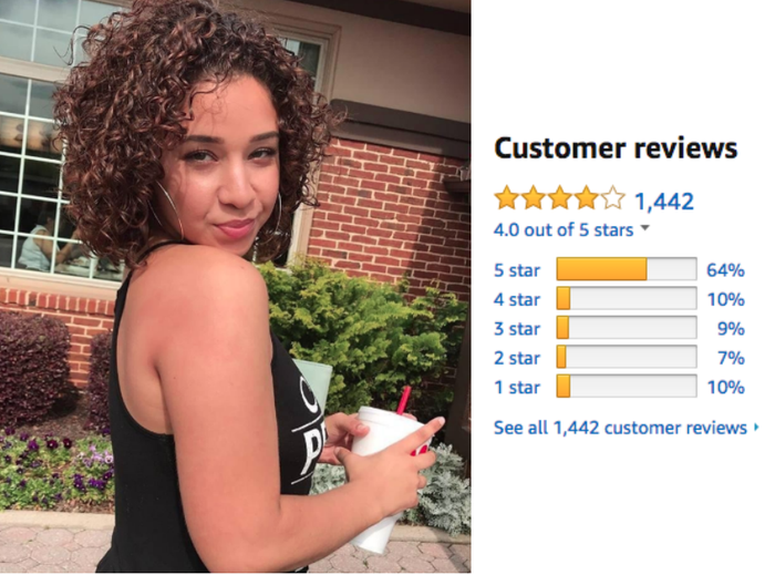 """""""I have B3 type hair and I absolutely love this gel! My hair doesn't have any 'crunchy' feel to it nor does it flake after days of having it in. I'm also finding my hair has so much more curl to it because the product doesn't weigh down my curls in any way. I also loveeee that it doesn't leave a sticky residue on my hands from playing with my hair throughout the day. I went from using two to three products to style my hair to using ONLY this gel. I highly recommend it!"""" —Rishona"""