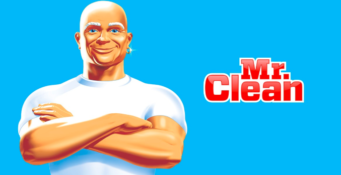 Mr. Clean and his dangly earrings