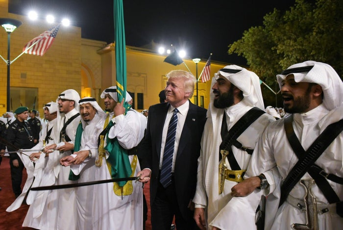 Trump in Saudi Arabia last year.